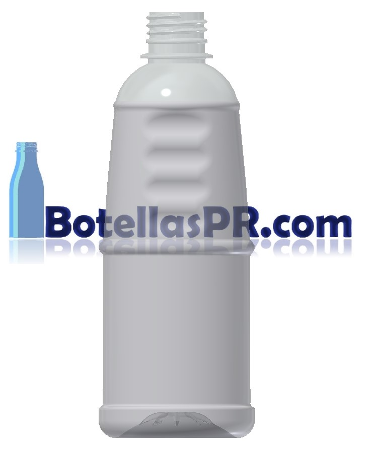 16oz Grip Plastic PET Bottle Clear Bottle Image