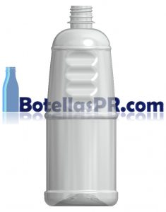 32oz Grip Clear Plastic PET Bottle Image