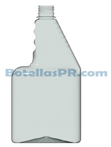 32oz Rectangular spray trigger Plastic PET Bottle Image