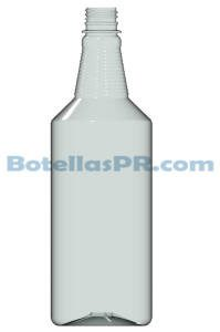 32oz Carafe clear Plastic PET Bottle Image